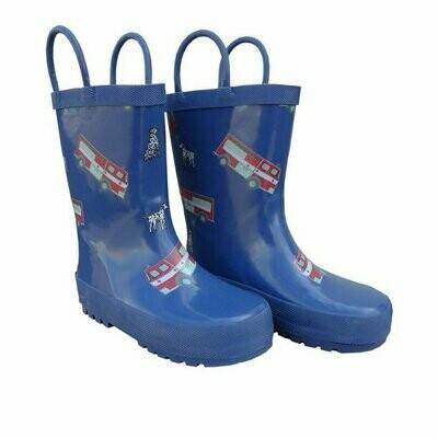 Foxfire Rain Boots - Fire Trucks