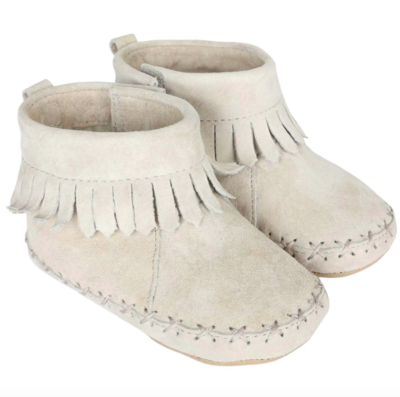 Robeez Cozy Ankle Moccasin - Grey