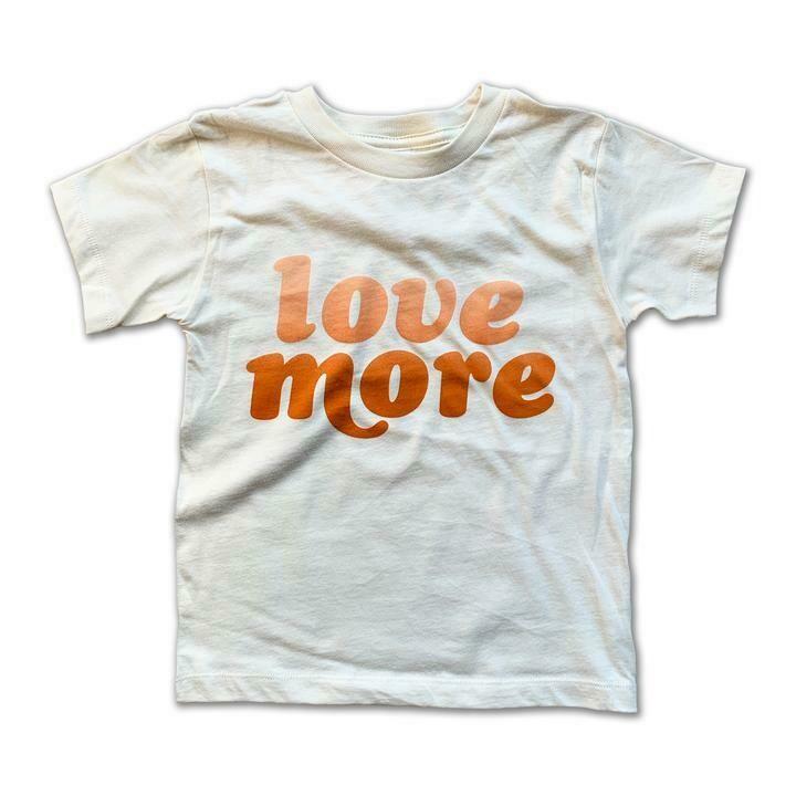 """Rivet Apparel Co. """"Love More"""" Tee - Natural"""