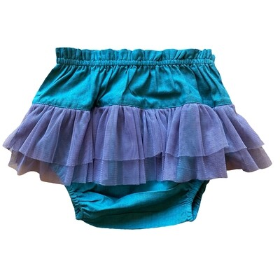 Yo Baby Bloomers - Teal with Tulle