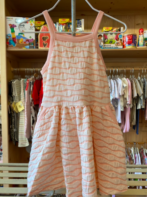 Mabel + Honey Pink Textured Dress with Pockets