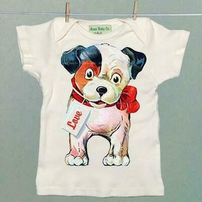 Acme Baby Co. - Puppy Love Valentine Organic Baby Shirt