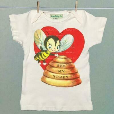 """Acme Baby Co. - """"Bee My Honey"""" Organic Baby Shirt"""