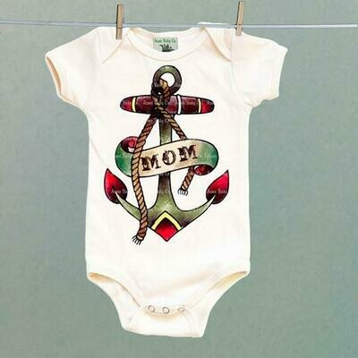 Acme Baby Co. - Mom Anchor Tattoo One Piece Baby Bodysuit