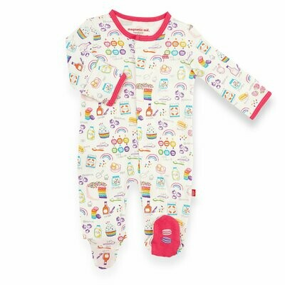 Magnetic Me - Rainbow Sprinkles Organic Cotton Magnetic Footie