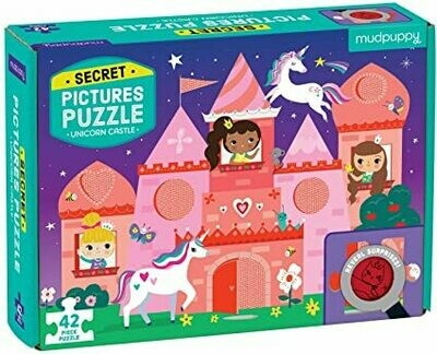 Mudpuppy - Secret Pictures Puzzle Unicorn Castle