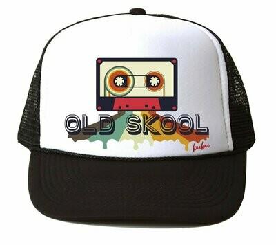 "Bubu ""Old Skool"" Trucker Hat - Black & White"