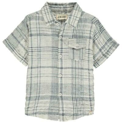 Me & Henry Short Sleeve Shirt - White/Navy Plaid