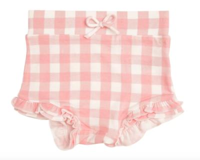 Angel Dear High Waist Shorts Gingham Pink