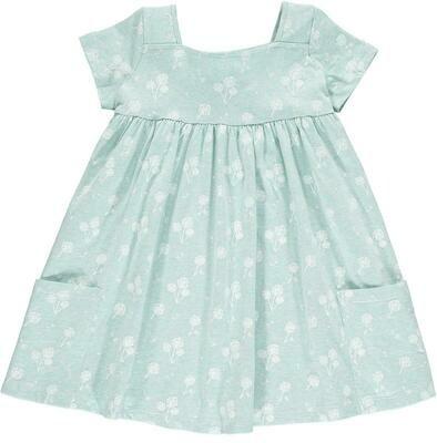 Vignette Rylie Dress - Aqua Dandelion