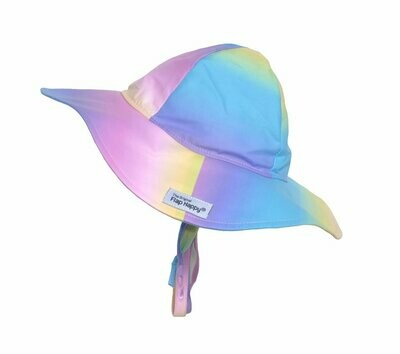 Flap Happy UPF 50+ Floppy Hat (Prints - Microfiber) - Rainbow Ombre