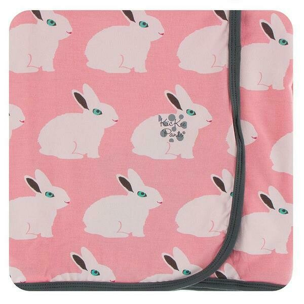 Kickee Pants Print Swaddling Blanket - Strawberry Forest Rabbit