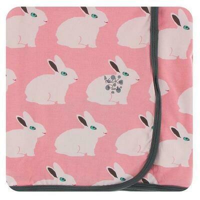 Kickee Pants Print Swaddling Blanket - Strawberry Forest Rabbit