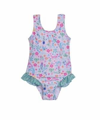 Flap Happy UPF 50+ Delaney Hip Ruffle Swimsuit - Mermaid Lagoon