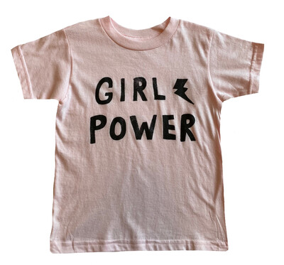 """""""Girl Power"""" Graphic Tee - Pink"""