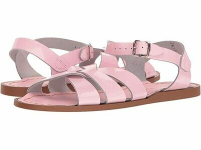 Salt Water Sandals Leather Water Safe Sandals - Shiny Pink