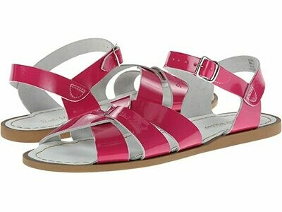 Salt Water Sandals Leather Water Safe Sandals - Shiny Fuchsia