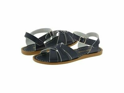 Salt Water Sandals Leather Water Safe Sandals - Navy