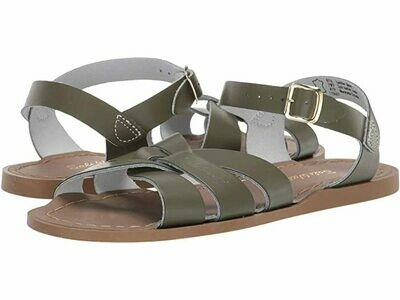 Salt Water Sandals Leather Water Safe Sandals - Olive