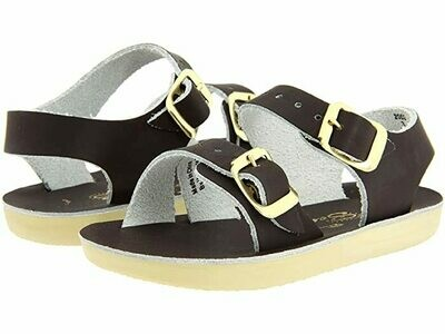 'Sea Wees' Salt Water Sandals - Black
