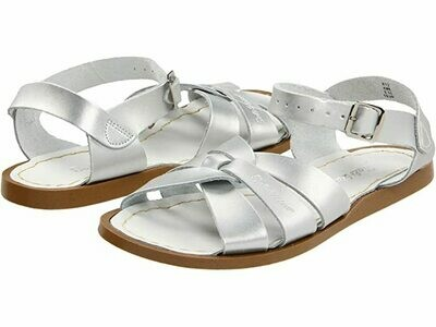 Salt Water sandals Leather Water Safe Sandals - Silver