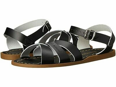 Salt Water Sandals Leather Water Safe Sandals - Black