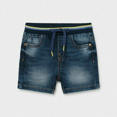 Mayoral Ecofriends Organic Denim Shorts - Medium Denim