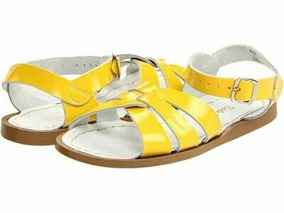 Salt Water Sandals Leather Water Safe Sandals - Shiny Yellow