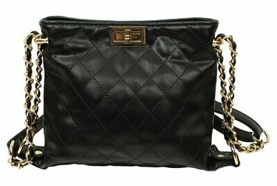 Popatu Black Crossbody Handbag