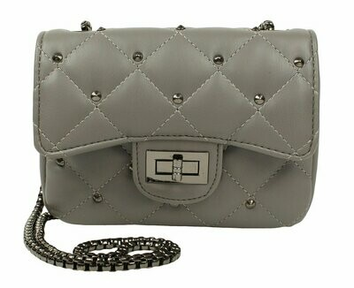 Popatu Grey Quilted Handbag