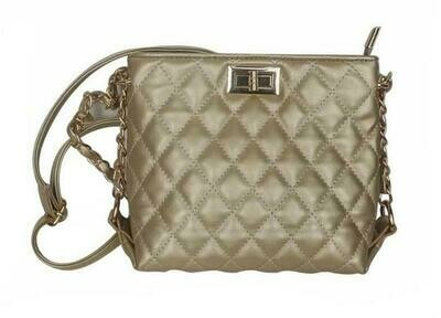 Popatu Gold Crossbody Handbag