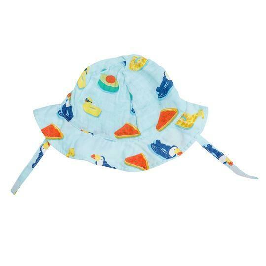 Angel Dear Retro Floaties Sun Hat - Blue