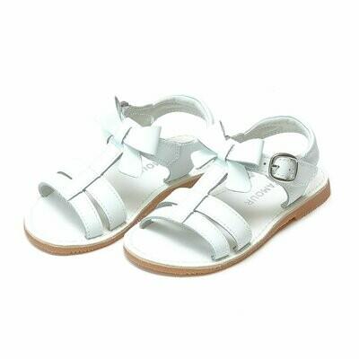 L'Amour Janie Bow Strap Sandal - White