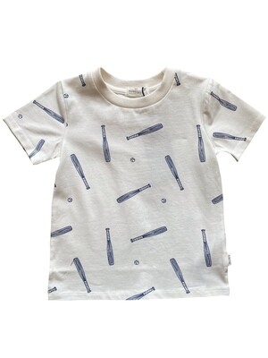 Miles Soft Ball Graphic Tee - Off-White