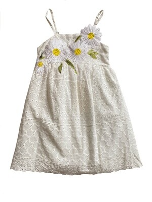 Baby Sara Eyelet Floral Embroidery Dress
