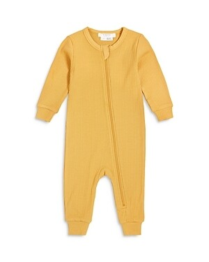 Firsts by Petit Lem Ribbed Coverall - Yellow Sunshine