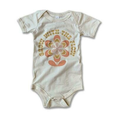 """Rivet Apparel Co. """"Grow with the Flow"""" Onesie"""