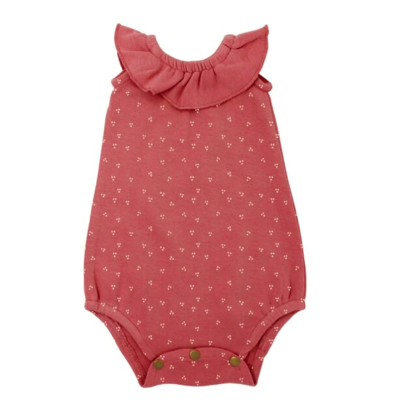 L'ovedbaby The Vintage Collection: Sleeveless Ruffle Bodysuit - Sienna Dots