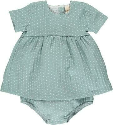 Vignette Agnes Dress with Bloomers - Green