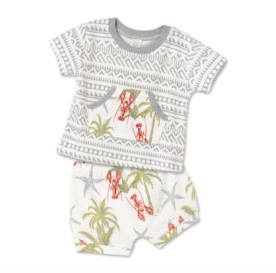 Tesa Babe Lobster Island Short Sleeve Shirt & Shorts Set
