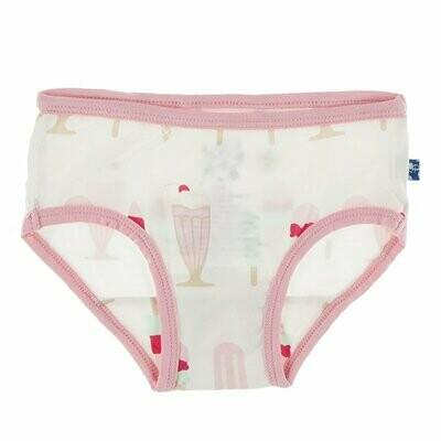 Kickee Pants Print Underwear - Natural Ice Cream Shop