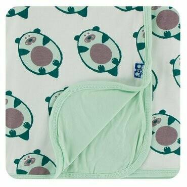 Kickee Pants Print Stroller Blanket - Natural Ottercado