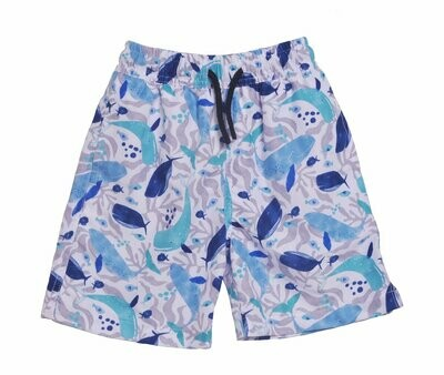 Flap Happy UPF 50+ Wesley Swim Trunks with Mesh Liner (50% Recycled) - Whales Tale