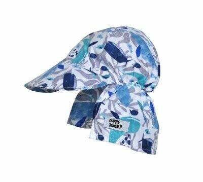 Flap Happy UPF 50+ Original Flap Hat - Whale Tale