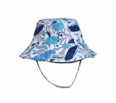 Flap Happy UPF 50+ Bucket Hat - Whales Tale