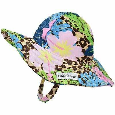 Flap Happy UPF 50+ Summer Splash Swim Hat - Cheetah Bloom
