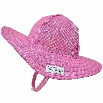 Flap Happy UPF 50+ Summer Splash Swim Hat - Pink Sparkle