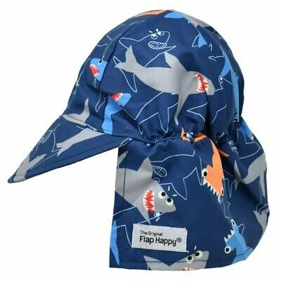 Flap Happy UPF 50+ Original Flap Hat - Shark Doodles