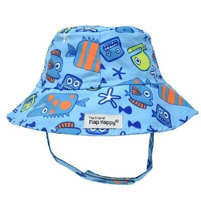 Flap Happy UPF 50+ Bucket Hat - Something's Fishy