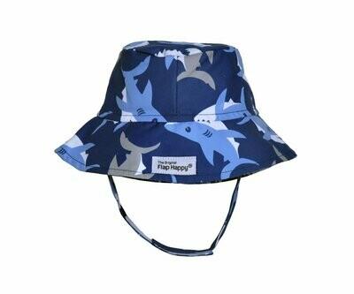 Flap Happy UPF 50+ Bucket Hat - Happy Shark
